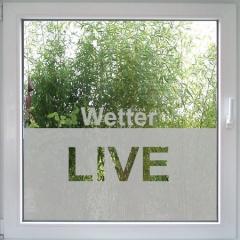 Wetter Live Fenstertattoo