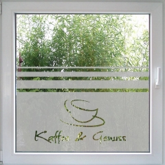 Kaffee & Genuss Fensterdekor