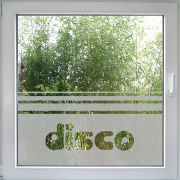 Disco Fensterfolie